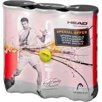 Kit C/ 3 Tubos De Bolas De Tennis Head Championship Novak Djokovic C/ 3 Un. - Unissex