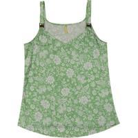 Blusa Com Alça E Decote V Verde
