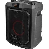 Caixa De Som Party Speaker Portátil 200W Rms Com Tecnologia Tws Luz De Led Conexões Bluetooth + Usb + Rádio Fm + Aux Preto Pulse - Sp319 Sp319
