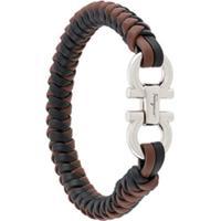 Salvatore Ferragamo Woven Bracelet - Preto