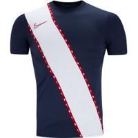 Camiseta Nike Dry Academy Top - Masculina - Azul Esc/Branco