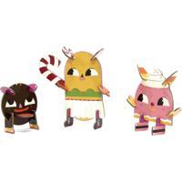 Quebra Cabeça 3D Personagens Docinhos Krooom Rosa