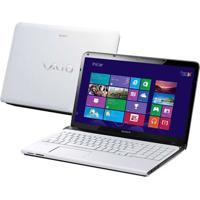 "Notebook Sony Vaio Sve15125Cbw - Intel Core I3-3110M - Ram 4Gb - Hd 500Gb - Tela 15.5"" - Windows 8"