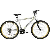 Bicicleta Aro 26 Mtb 18 Marchas Jet Branca/Amarelo Athor Bikes