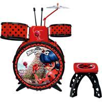 Bateria Infantil - Miraculous - Ladybug - Fun - Feminino-Incolor