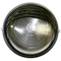 Arandela Tartaruga Circular 18Cm Alumínio E-27 1 Lâmpada Max 60W Meia Cana Preta