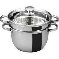 Espagueteira Aço Inox Para Massas 3 Peças Tampa De Vidro 4 Litros - Gourmet Mix