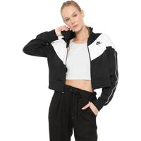 Jaqueta Nike Sportswear Nsw Hrtg Trck Preta/Branca