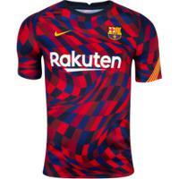Camisa Pré-Jogo Barcelona 20/21 Nike - Masculina - Vermelho/Amarelo