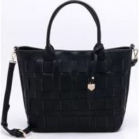 Bolsa Tote Wj Shopping Bag Preta - Único