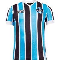 Camisa Masculina Umbro Grêmio Retrô 1981 Azul/Preto - P