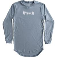 Camiseta Longline Stoned Manga Longa Flame Masculina - Masculino-Azul
