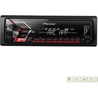 Auto Rádio Mp3 Player - Pioneer - Usb - Frente Removível Anti Roubo - 1 Saída Rca - Cada (Unidade) - Mvh-S108Ui