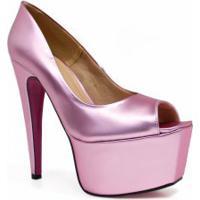 Sapato Zariff Shoes Peep Toe Meia Pata Festa