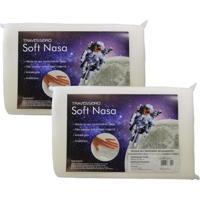 Kit Com 2 Peças Travesseiro Viscoelástico Soft Nasa