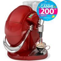 Máquina De Café Espresso E Multibebidas Automática Gesto Vermelha Três Corações - 1,2L De Capacidade, Descarte Automático, Pressões Entre 15 E 2 Bar
