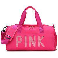 Bolsa Feminina Mala Pink Academia Fitness Transversal Casual Rosa