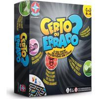 Jogo De Tabuleiro Certo Ou Errado - Estrela 1602900124