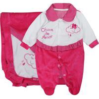 Saída Maternidade Em Plush Pink Chuva De Amor Pink - Tricae