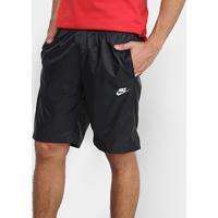 Short Nike Nsw Woven Core Masculino - Masculino-Preto+Branco