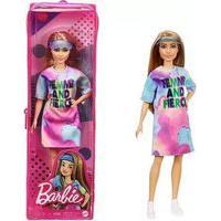 Barbie Fashionista - Vestido Rosa/Azul Fbr37