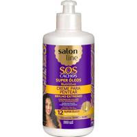Creme De Pentear Salon Line Sos Cachos Oleos Nutritivos 300Ml