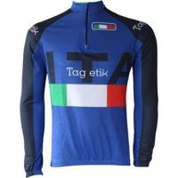 Camisa Ciclismo Manga Longa Pro Tour Itália Masculina - Masculino
