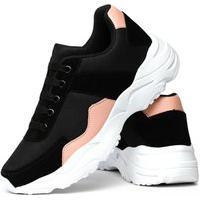 Tênis Sneaker Impulsion X-Try Feminino Preto