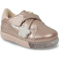 Tênis Casual Infantil Pampili 471031 Baby Fun Luz Feminino - Feminino-Rosa