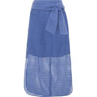 Saia Midi Laise - Azul