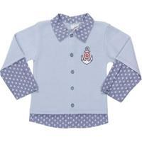 Casaco Infantil Para Bebê Menino - Azul