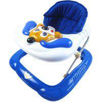Andador Bebê Infantil Musical Recreativo Baby Style Cachorro Azul