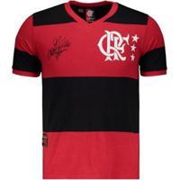 Camisa Flamengo Retrô Libertadores Adílio Masculina - Masculino-Vermelho