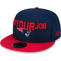 2ce69270c0bde ... Boné 5950 New England Patriots Nfl Aba Reta New Era - Masculino-Azul