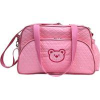 Bolsa Baby Com Trocador Ls Bb6434 Com 3 Divisões - Unissex-Rosa