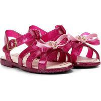 Sandália Infantil Jasmim Baby World Colors Feminina - Feminino-Pink