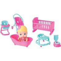 Boneca Little Dolls Casinha Com Acessórios - Feminino-Colorido