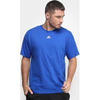Camiseta Adidas Must Haves 3 Stripes Masculina - Masculino-Azul