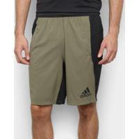 Short Adidas 4Krft Woven 10'' Maculina - Masculino-Bege+Preto