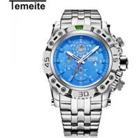 Relógio Temeite Masculino Quartzo Á Prova D Água - Azul