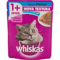 Ração Para Gatos Whiskas Jelly Adulto 1+ Anos Sachê 85G Sabor Peixe Nova Textura