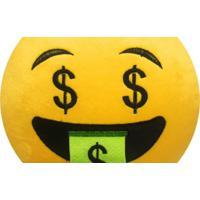 Almofada Capital Do Enxoval Emoji Doido Por Dinheiro Estampado