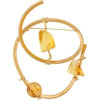 Marni Broche De Resina - Dourado
