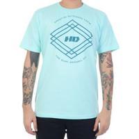 Camiseta Hd Triangle Crew Masculino - Masculino-Verde Água