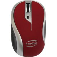 Mouse Sem Fio Wave- Bordã´ & Preto- 3,5X6X10,5Cm-Newex