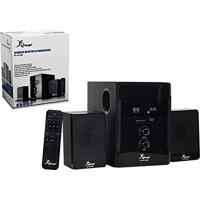 Home Theater Bluetooth 2.1 Subwoofer 40W Com Usb Sd Para Tv Som Dvd Com Controle Remoto Bivolt