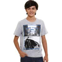 Camiseta Juvenil Estampa Batman Liga Da Justiça