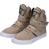Tênis Sneaker Cheia De Marra Bege