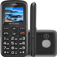 Celular Para Idosos Multilaser Vita 3 Dual P9048 Preto