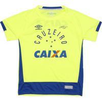 Camisa Goleiro Cruzeiroâ® Oficial 2017 - Amarelo Neon & Aumbro